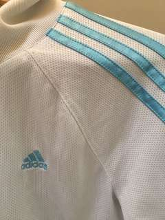 Adidas blue and white sweater