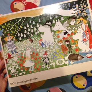 日本製 姆明家族 Moomins 1000塊拼圖