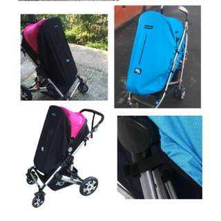 Stroller canopy extensions