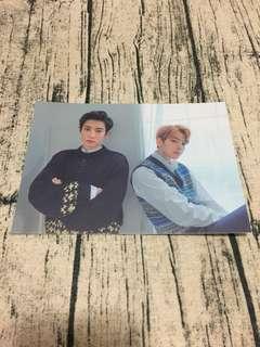 EXO CHANYEOL&BAEKHYUN Universe Postcards SUM