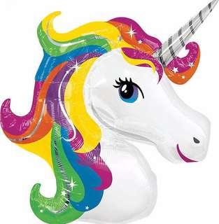 Rainbow unicorn metalic (JUMBO)