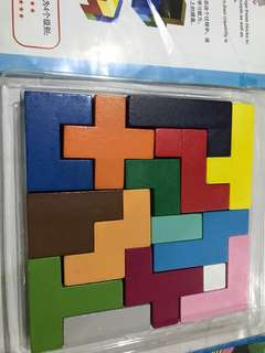 Right brain training wooden block