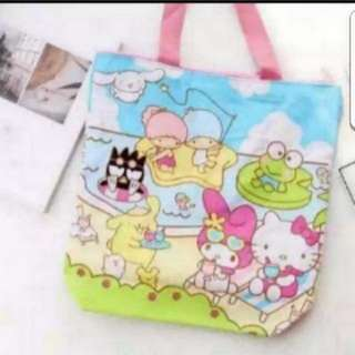 In Stock Sanrio Characters Design Tote Bag Shoulder Bag Size is 36 × 10 × 37cm