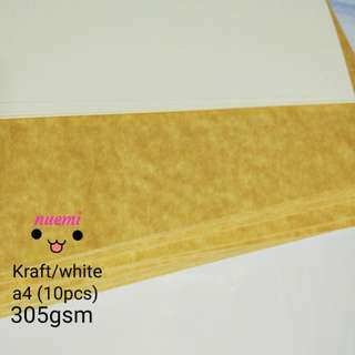 305gsm Kraft/white board imported (10pcs)