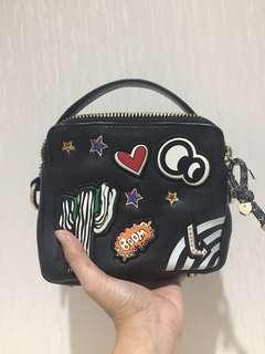 Zara patch bag - original