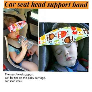Car seat head support band