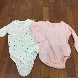 H&M Long Sleeve Baby Romper 2pcs