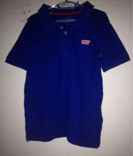 Levis kids polo shirt blue