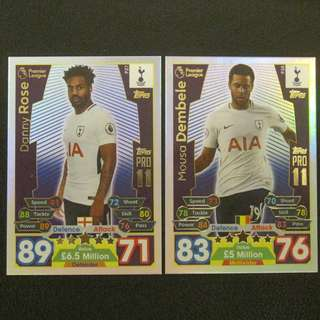 最新 17/18 Match Attax PRO11 - Danny ROSE / Mousa DEMBELE #Tottenham Hotspurs 熱剌