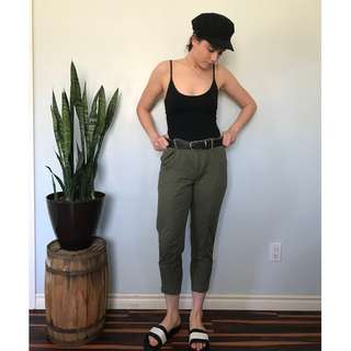 Joe Fresh green pants- Size 6