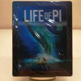 港版 LIFE OF PI 2D+3D 藍光鐵盒STEELBOOK