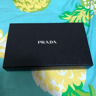 Pre Loved Prada Wallet With Chain