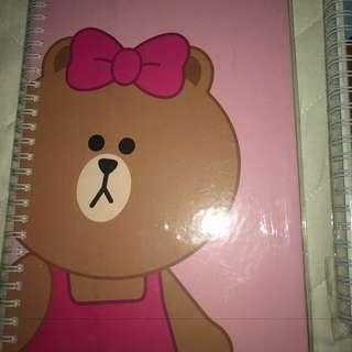 Line Friends Choco Notebook