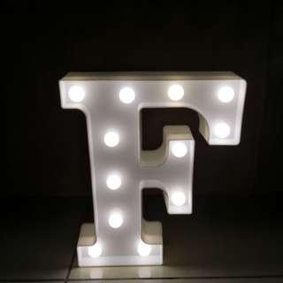Plastic Alphabet F light