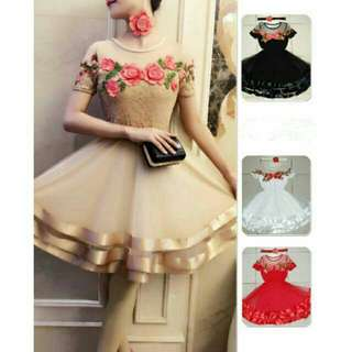 NEW 4D gaun bridesmaid pernikahan dress prewedding pengapit pagar ayu gaun pernikahan