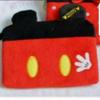 In Stock Mickey Mouse Pouch With 2 Compartments