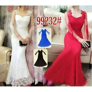 Long Dress pesta 99232 Gaun panjang pesta lengan panjang