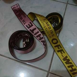 Off white Belt Pink & Yellow