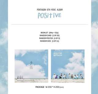 Pentagon 6th mini album - Positive