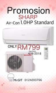 SHARP 1.0HP Standard Air-Con