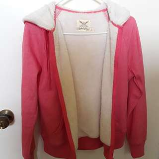 Faded glory pink sherpa lined hoodie