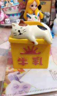 牛奶箱貓咪收納盒