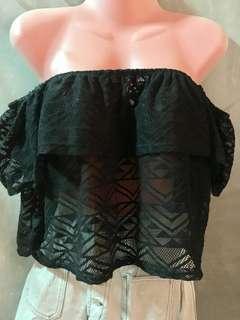 Lacey Off-Shoulder Crop Top