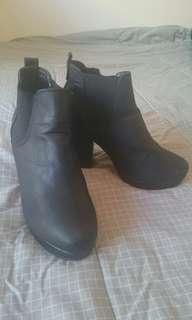 ASOS Black Chelsea Heeled Boots