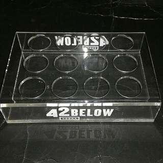 42 BELOW VODKA SHOT GLASS HOLDER SERVING TRAY
