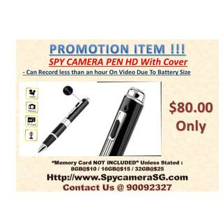 Spy Pen Camera With Cover HD