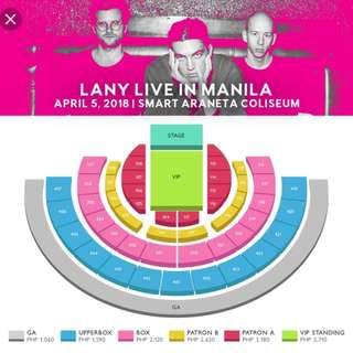 LANY DAY 2 BOX TICKETS FOR SALE