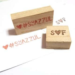 Handmade customizable stamps