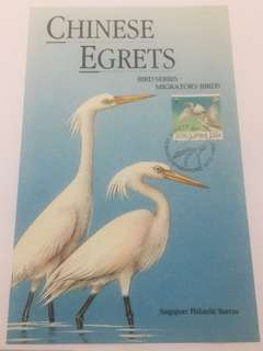 Singapore 1993 egrets maxicard