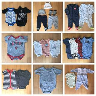 Baby boy 0-3 & 3-6 month clothing