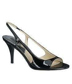 Authentic Michael Kors MK Black Zoe Slingback Sandals