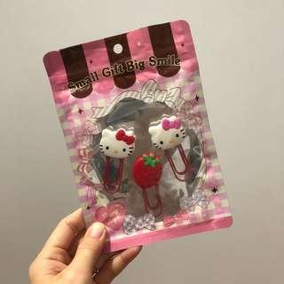 sanrio hello kitty paper clip set