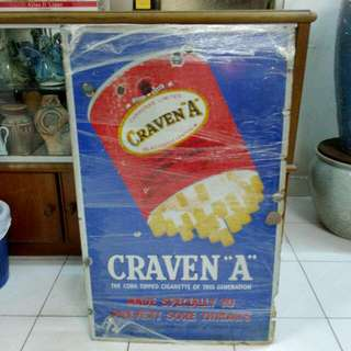 Craven A Cigarettes Enamel Sign Vintage