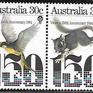澳大利亞1984維多利亞州150年2全新