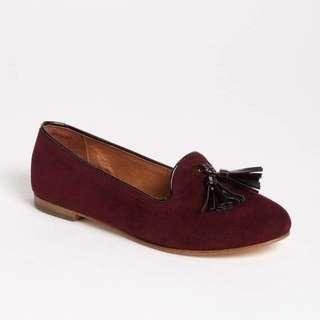 Steve Madden Burgundy Suede Tassel Loafers Slippers