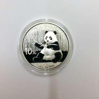 2017年熊貓30gm Ag.999 銀幣
