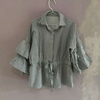 Stripes Bell-sleeve Top