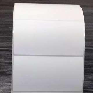 Blank Adhesive Sticker Thermal Label Sticker 80mm x 40mm- NO MEET UPS