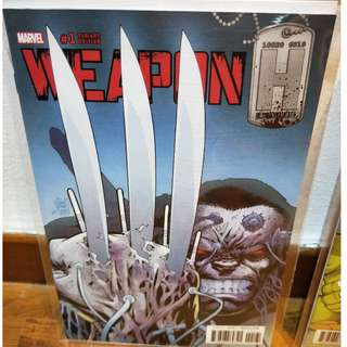 Weapon H first issue Kubert Variant