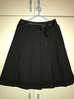 黑色 百摺裙