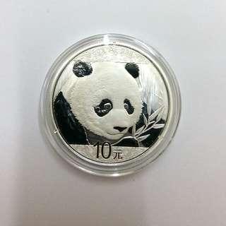 2018年熊貓銀幣30gm ag.999