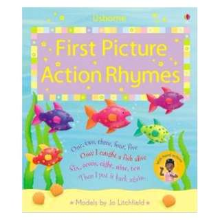 @(Brand New) First Picture Action Rhymes (Usborne First Picture Books)   By: Felicity Brooks