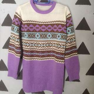 Sweater cardigan rajut