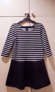 Dress - Black and Stripped