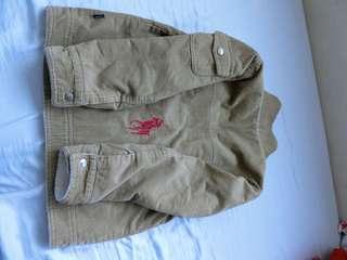 Polo coat 男童 直條˙絨 內刷毛 飛行外套 專櫃 正品