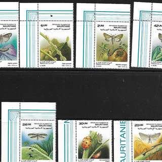 毛里塔尼亞 昆蟲郵票(1988) 7全